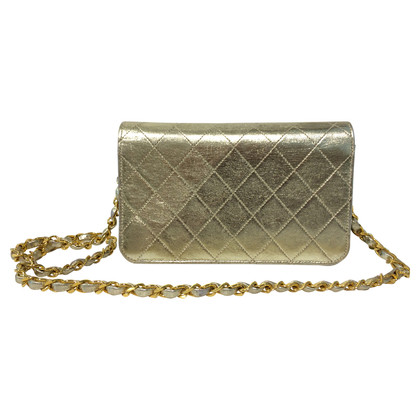 Chanel Goldfarbene Flap Bag