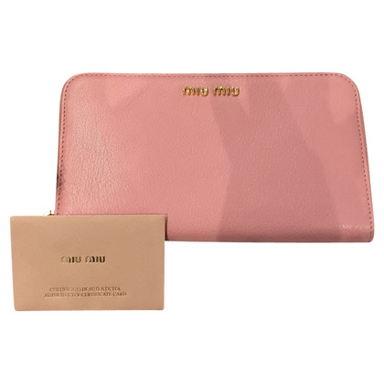 "Miu Miu ""Madras Leather Wallet"""