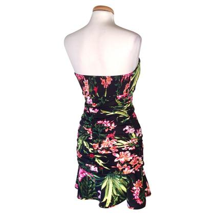 Versace Bandeau-jurk met een bloemmotief