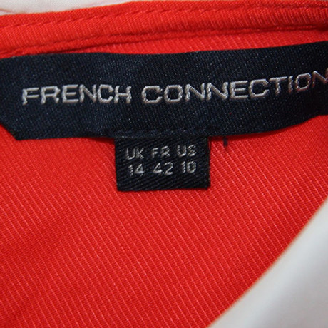 Kragen French French Connection mit Bluse Connection Rot Bluse mit qSx4x7wRO