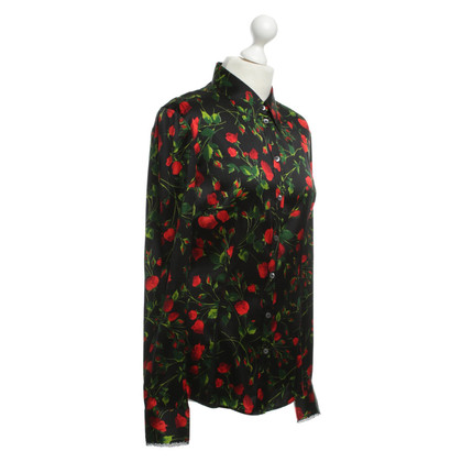 D&G Rose motif blouse