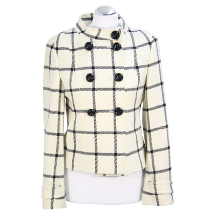 Hobbs Plaid wool coat