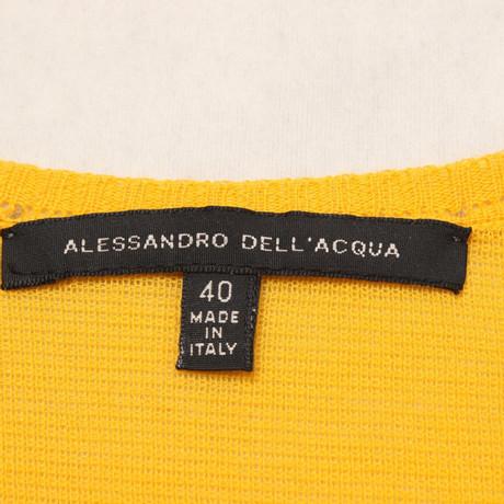 Gelb Alessandro Dell'Acqua Alessandro Strickpullover in Gelb Dell'Acqua qvp0Xxw4
