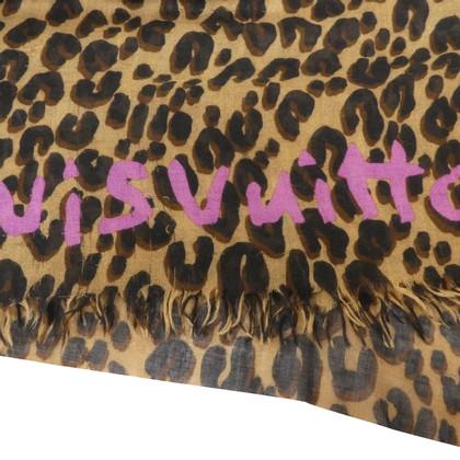 Louis Vuitton Stola leopard in cashemere e seta