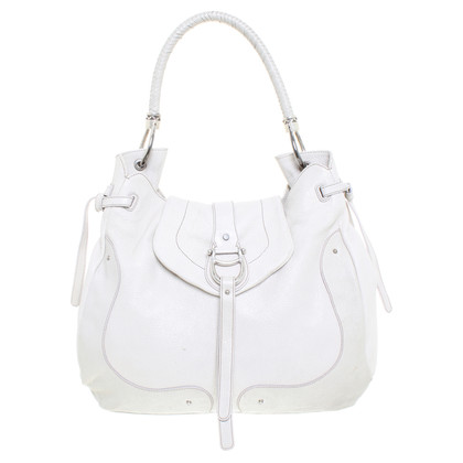 Aigner White leather bag
