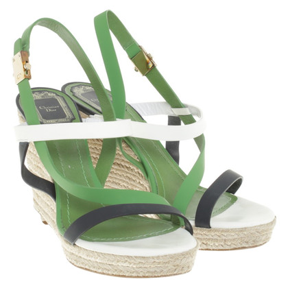 Christian Dior Wedges in groen