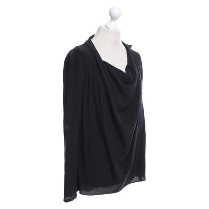 Patrizia Pepe camicetta di seta in nero