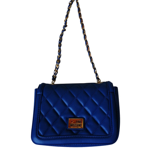San Francisco 2f7cf 2c70b Moschino Love Borsa a tracolla in Blu - Second hand Moschino ...