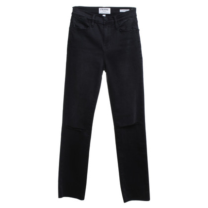 Frame Denim High-Waist Hose in Schwarz