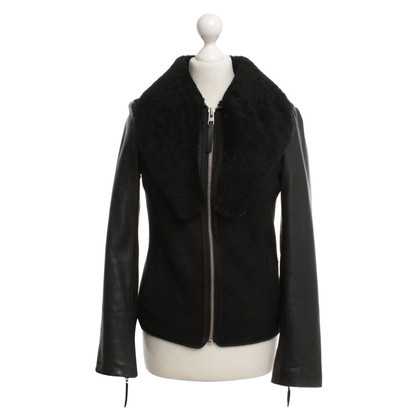 All Saints Leather jacket in black