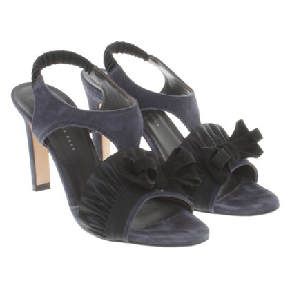 Hugo Boss Suede sandals with bow