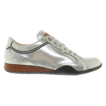 Bally zilverachtige Veterschoenen