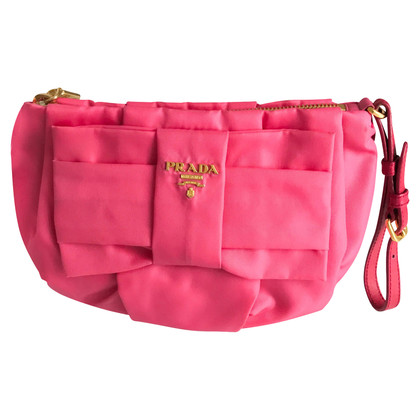 Prada  Silk and Fabric Clutch