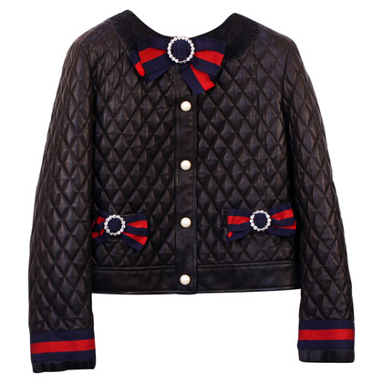 Gucci Quilted leather jacket