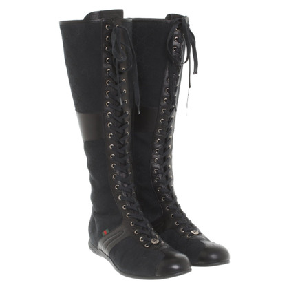 Gucci Lace-up boots with Guccissima pattern