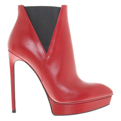 Saint Laurent Ankle boots in red