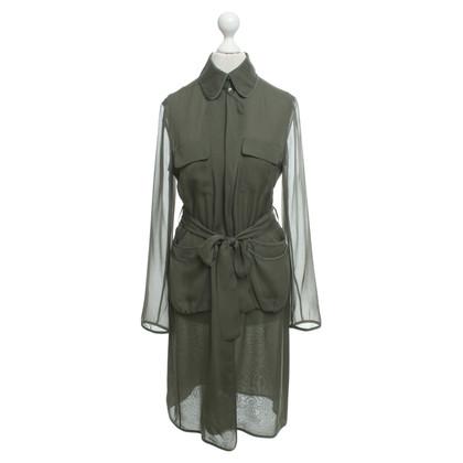 Diane von Furstenberg Zijden blouse in Olive