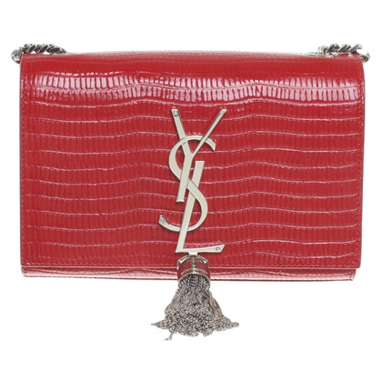 "Saint Laurent ""Classic Small Monogram"" in het rood"