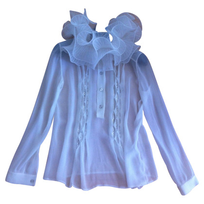 Versace Blouse with stand-up collar