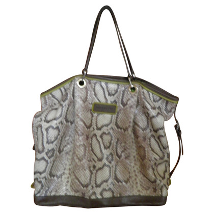 Longchamp Shopper in look rettile