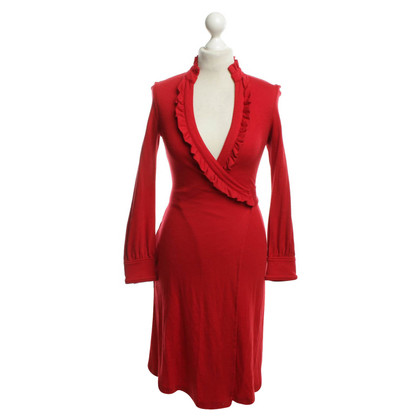 Diane von Furstenberg Wrap Dress in Red