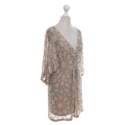 Needle & Thread Silk dress in beige