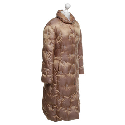 Mugler Down coat in gold