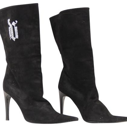 Versace Stiefel Wildleder