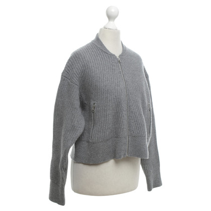 Acne Kurze Strickjacke in Grau