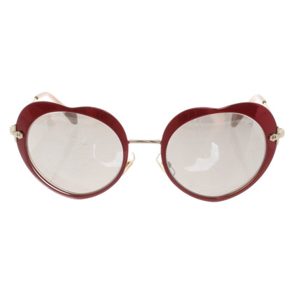 Miu Miu Heart shaped sunglasses