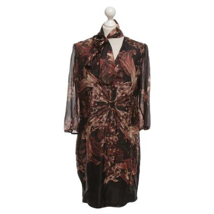 Luisa Cerano zijden jurk met drukpatroon