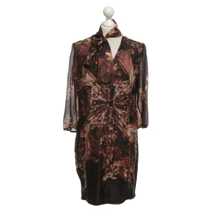 Luisa Cerano Silk dress with print pattern