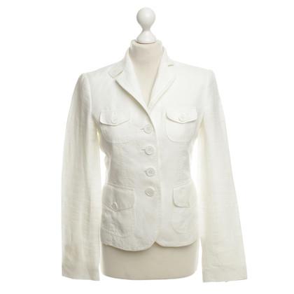 Windsor giacca di lino in bianco