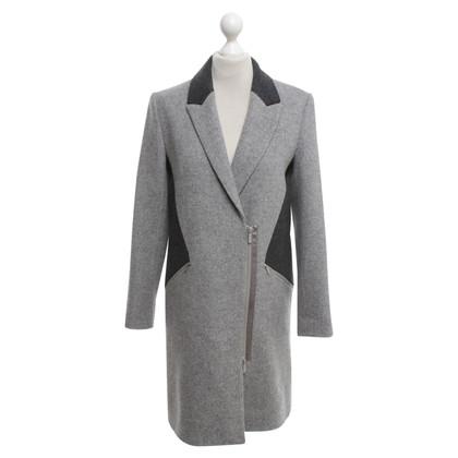 Karl Lagerfeld Wollmantel in Grau