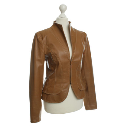 Valentino Leather jacket in ochre