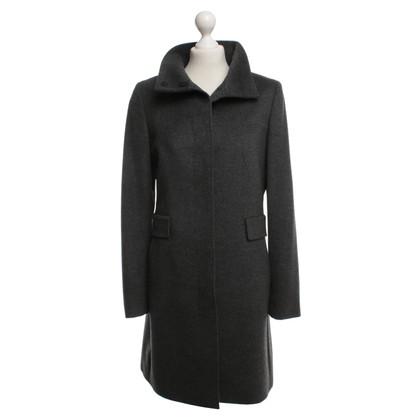 Max Mara cappotto grigio in lana vergine