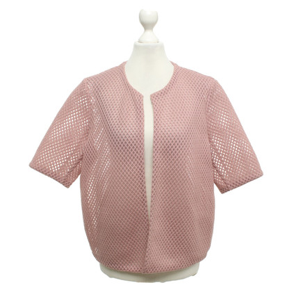 Cos Short-sleeved jacket in blush pink