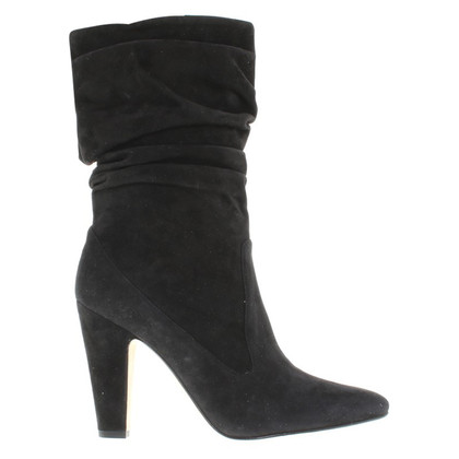 Manolo Blahnik ankle boots in pelle scamosciata in nero