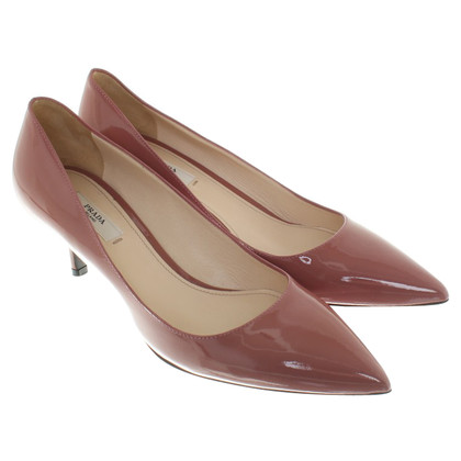 Prada Altrosa color pumps made of lacquered leather