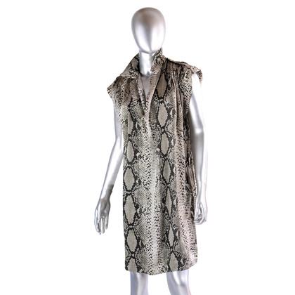 Lanvin Silk dress in Python-Optik