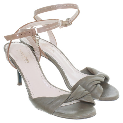 Patrizia Pepe Leather sandals in olive