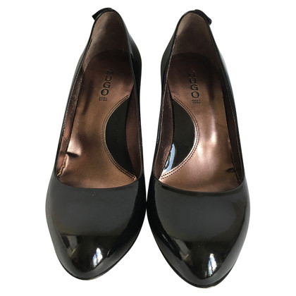 Hugo Boss lederen pumps
