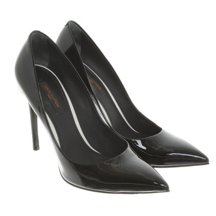 Louis Vuitton Lackleder-Pumps in Schwarz