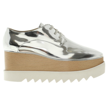 Stella McCartney Platform lace-up shoes in silver