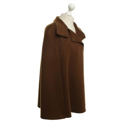 Akris Brown cashmere cape