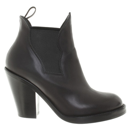 Acne Black leather ankle boots