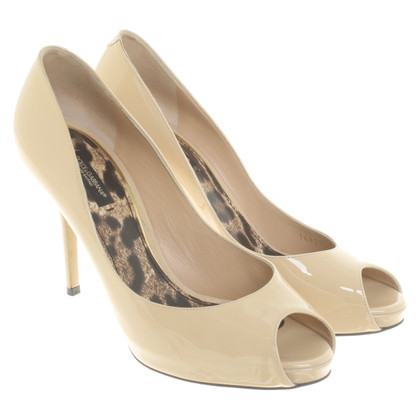 Dolce & Gabbana Patent leather peep-toes