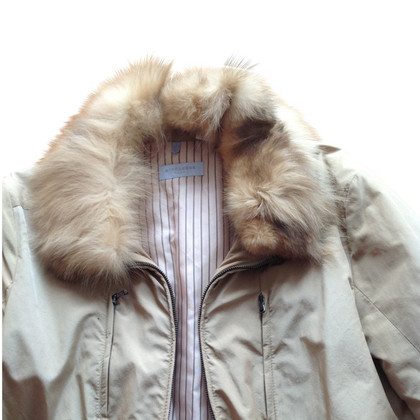 Strenesse Blue Jacket with Fox collar