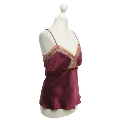 Alberta Ferretti Top in Bordeaux