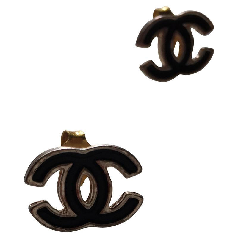 Chanel ohrstecker schwarz